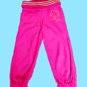 Очаровательные фирменные ярко- розовые штанишки M&Sна красавицу 6-7 лет