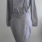 Шикарная рубашка блуза кофта из 100% хлопка с удлинённый спинкой, юбка в подарок