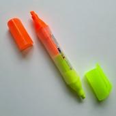 Двухсторонний маркер-текстовыделитель. В лоте 1шт. Лоты комбинирую.