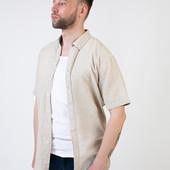 Стильная льняная рубашка Livergy Германия размер L (41/42)