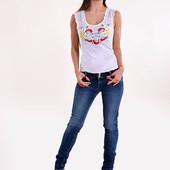 Вышиванка с гипюровыми плечиками .вишиванка вишита футболка