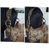 Новая, с биркой. Дизайнерская сумочка. Кожа + текстиль н 2 отделния