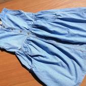 елегантний джинсовий сарафан на 8 років
