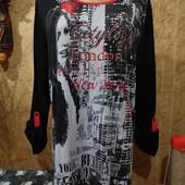 Эксклюзивная чёрная с ярко красным со стразами трикотажная блузка. 3xl,4xl,5xl. Лотов много