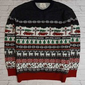 Классный новогодний свитер Next, светится