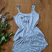Шикарна, сіренька піжамка ❤️ Натуральна тканина