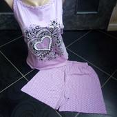 Качество + !!! Домашний комплект, пижама 56р , 100 % хлопок, маломерит