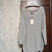 Фирменный новый свитер-туника р.14-22 оверсайз.
