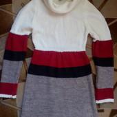Тёплое уютное платье в отличном состоянии, р.М. Можно беременной.