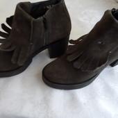 Стильные ботинки натур замша Oxmox Германия 37 р-длина стельки-23,5 см