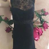 Нарядное чорное платье. Размер S.