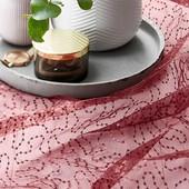 Праздничная скатерть из органзы для декора с вышивкой блестками Tcm Tchibo 135x200cm