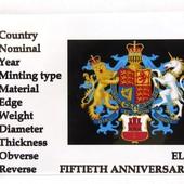 монета в холдере с хвостом Гибралтар, юбилейная, 1 пенни, 2017, 50 лет референдуму
