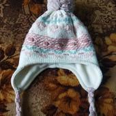 Класна утеплена шапочка з люрексом