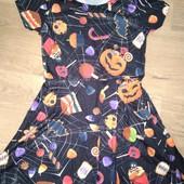 Платье на Хеллоуин на девочку 7-8лет