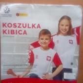 Футболка фирменная спортивная Polska, рост 140 см