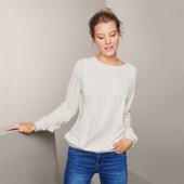 Очаровательная, классическая блуза с вышивкой от Tchibo Германия, размер нем 36/38/наш 42/44