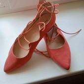 Классные, удобные туфельки, 41 размер, ст.26.5-27 см.