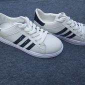 №-4 Женские белые очень удобные кроссовки