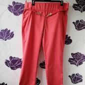 Очень классные, модные штаны/брюки/джеггинсы! пояс-резинка, высокая посадка! 56-58 размер! Турция!