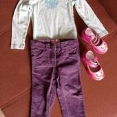 Вельветовые штанишки Impidimpi, бодик Lupilu, туфельки в подарок