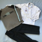 Теплий світер, рубашка та брюки на 5-6 років
