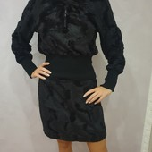 Оригинальный и теплый костюм из ткани под тонкий мех, р. S-XL, смотрите замеры.