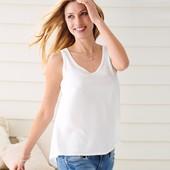 ☘ М'яка і ніжна блуза-топ з тканої вставкою, Tchibo (Німеччина), р.: 38-40 (32/34 євро), міні-нюанс