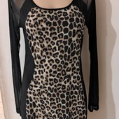 Очень нежное тигровое платье М