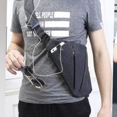 Сумка -портмане через плечо на 4 отделения.