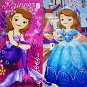 Большое яркое полотенце Принцесса Софи лот голубое