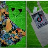 Комплект из 2 х вещей: Сарафан Лен + Платье на запах на рост 140