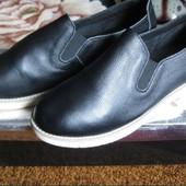 Мой пролет. Полностью кожаные туфли слипоны лоферы женские Sopra 38 р. Стелька 23.8 см