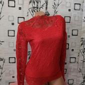 ❤️Новая, эксклюзивная блуза из дорогого кружева на подкладке ❤️