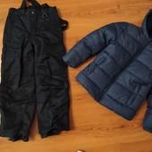 Теплая куртка kiabi в идеальном состоянии, штаны в подарок crivit