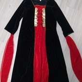 Карнавальные платье на девочку размер 6-8лет замеры на фото
