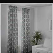 Ikea 145*250 роскошные шторы лен/хлопок