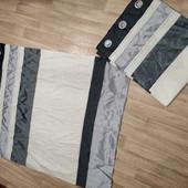 Короткие шторы от Dunelm, лен и сатиновый блеск