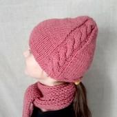 Шапка и шарфик на девочку 5-6лет