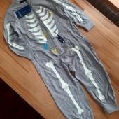 Человечек / пижама Lupilu Германия. Светится в темноте. 86-92см. Без бум. бирки!! Только леска