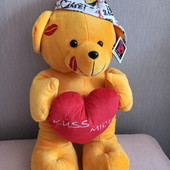 Фирменный новый большой красивый Мишка с сердечком р.60см