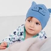 ☘Лот 1 шт☘ Яскрава шапочка, біо-бавовна, Tchibo (Німеччина), розмір універсальний: 19,5 см, котик