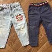 Супер модные джинсы МОМ на рост 98-104 ❤️ И штанишки для двора в одном лоте