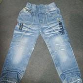 ❣️Скидка УП!!!Модные джинсы с потертостями и прорезями на рост 110 примерно, смотрите замеры❣️