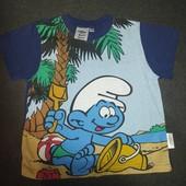 Скидка УП!!!Классная Фирменная футболка на плотного мальчика как новая 110-116в точности как на фото