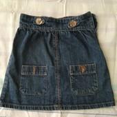Джинсовая юбка с карманами, рост 128 см