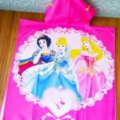 Пляжное полотенце пончо Человек паук, Спанч боб Принцеса | Пляжний рушник пончо|детское полотенце|