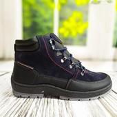 Мужские зимние термо ботинки Dago Style на меху на шнуровке.