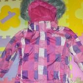 Теплая Деми куртка для девочки 3 года фирменная