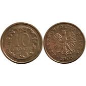 10 грошей польских (Польша, 2005 год) (монеты, монета, злотых)